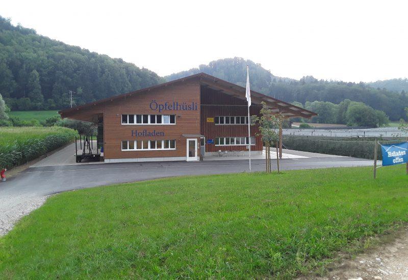 Öpfelhüsli ab 2018 - Neubau mit Hofladen und Lagerhalle