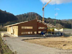 Neubau des Öpfelhüsli 2018 - Der Holzbau steht