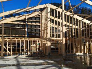 Neubau Öpfelhüsli 2018 - Der Holzbau von Innen