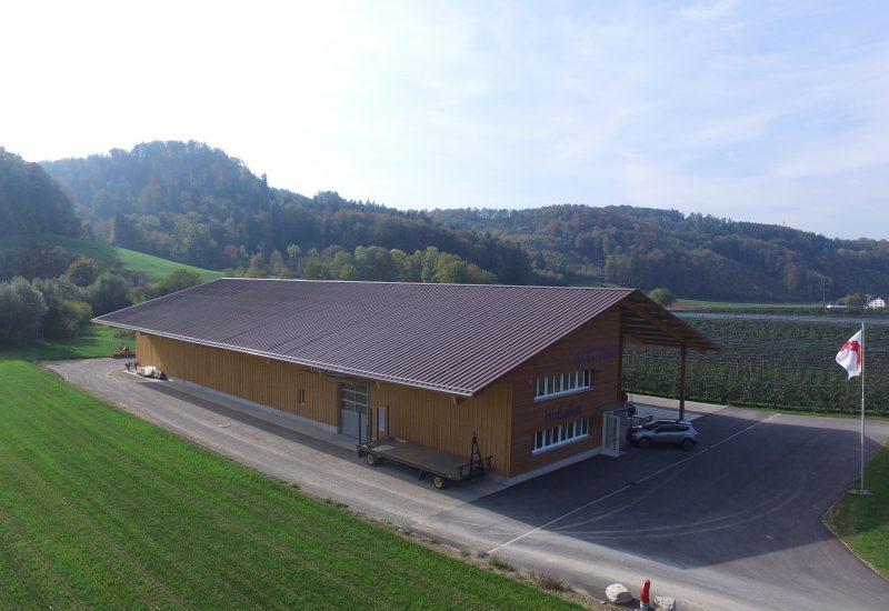 Öpfelhüsli Station Lampenberg aus der Luft