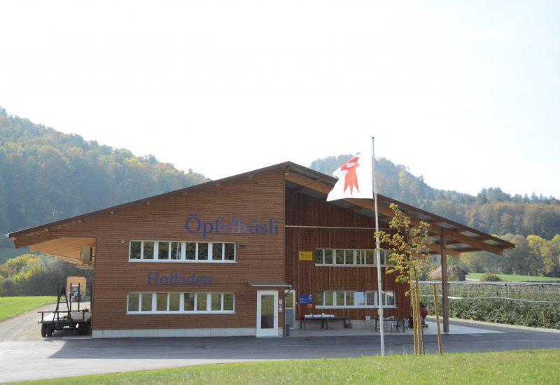 Öpfelhüsli Frontseite, Hofladen